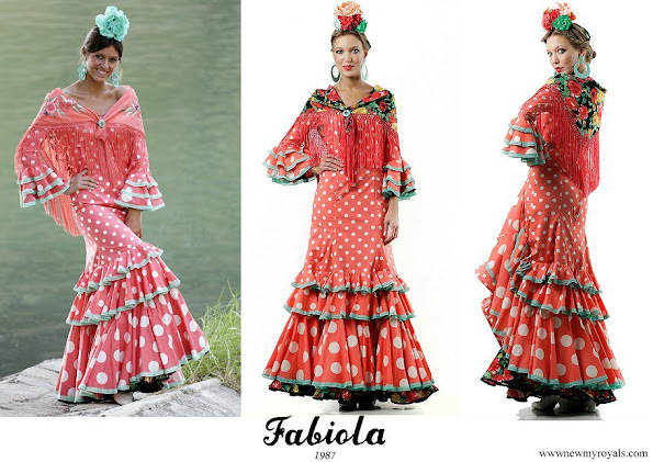 Princess Ariane in Fabiola 1987 Flamenco dresses