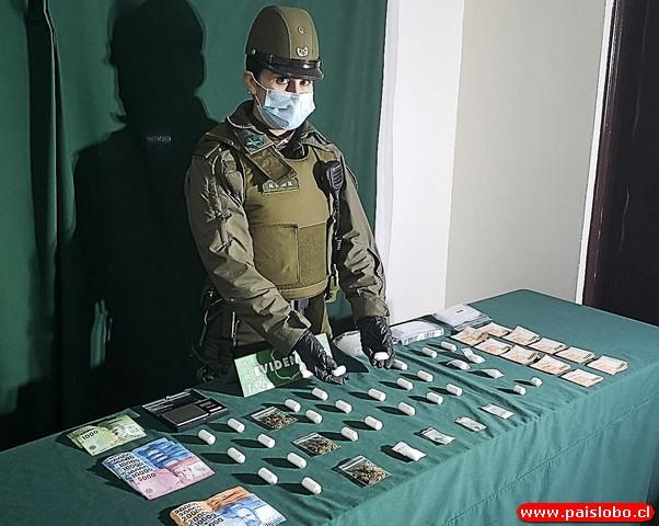 Dos detenidos y droga incautada dejó operativo del O.S.7 Puerto Montt🚨