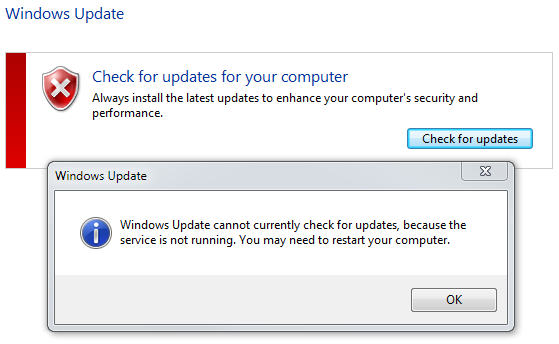 Bitwise Magazine: Windows update cannot currently check for updates