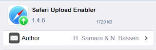 cydia tweak Safari Uploud Enabler, Mudah nya Uploud Berbagai File di IOS