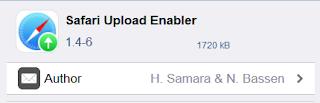 Terkadang kita kesulitan dengan memakai smartphone besutan apple ini Safari Uploud Enabler, Praktis nya Uploud Berbagai File di IOS