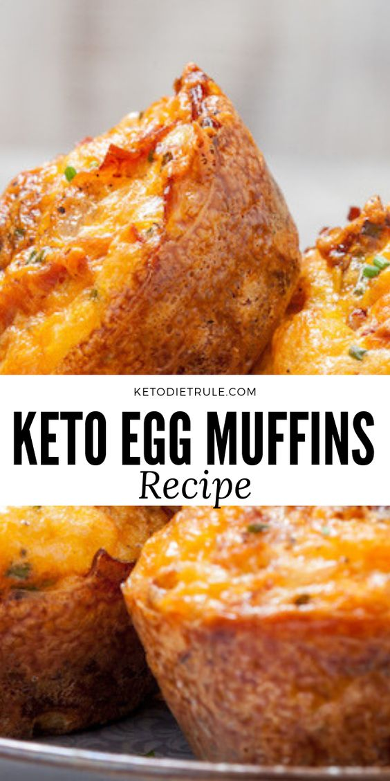 Keto Egg Muffins with Bacon and Cheese Recipe
