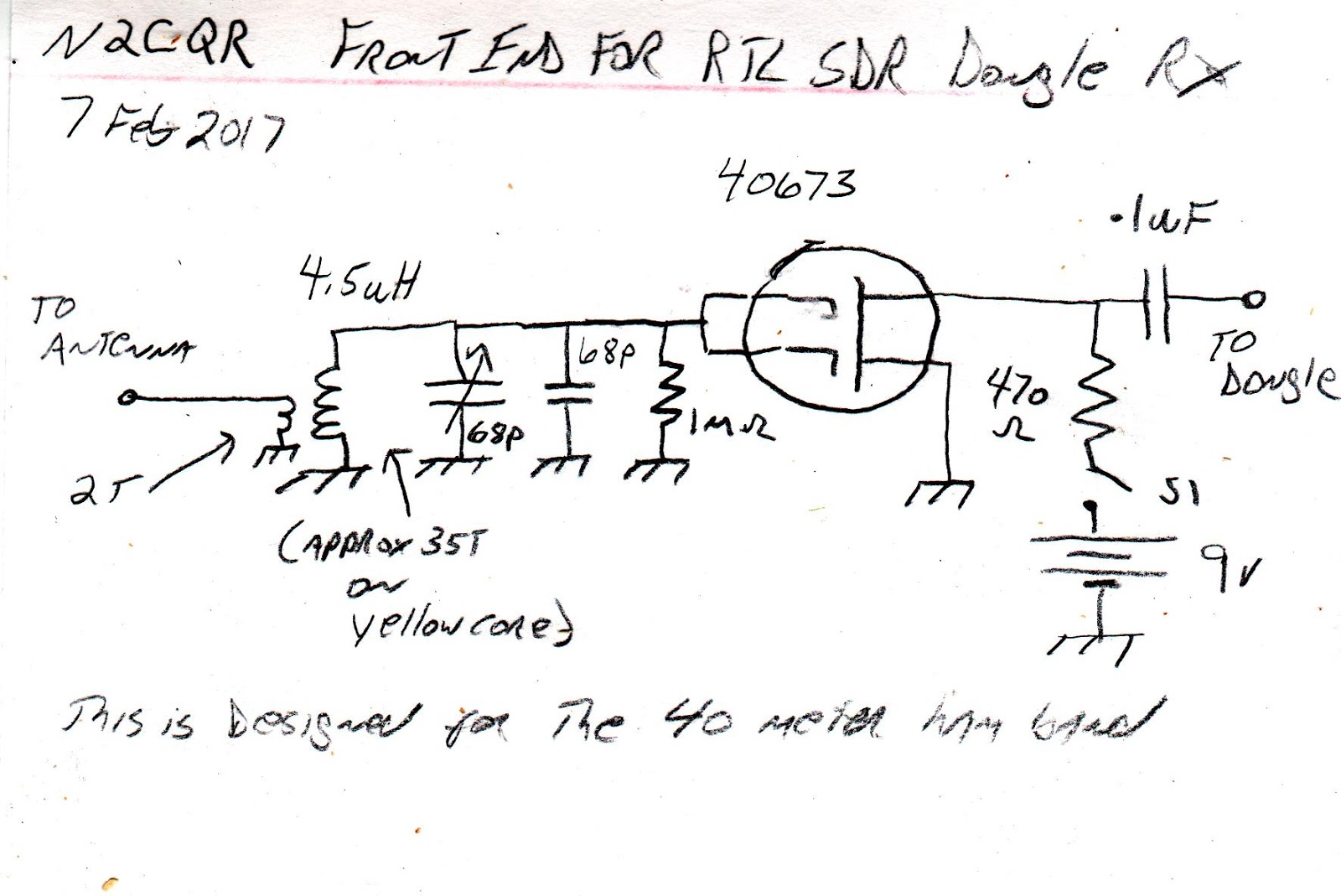SolderSmoke Daily News: Schematic for the RTL SDR Dongle Front End