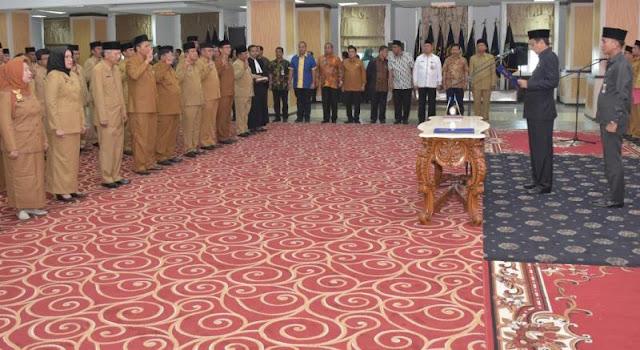 Untuk Tingkatkan Kinerja, Gubsu Lantik 87 Pejabat Administrator