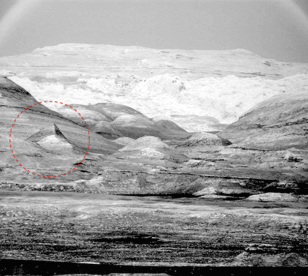 Nuova piramide ritrovata su Marte.