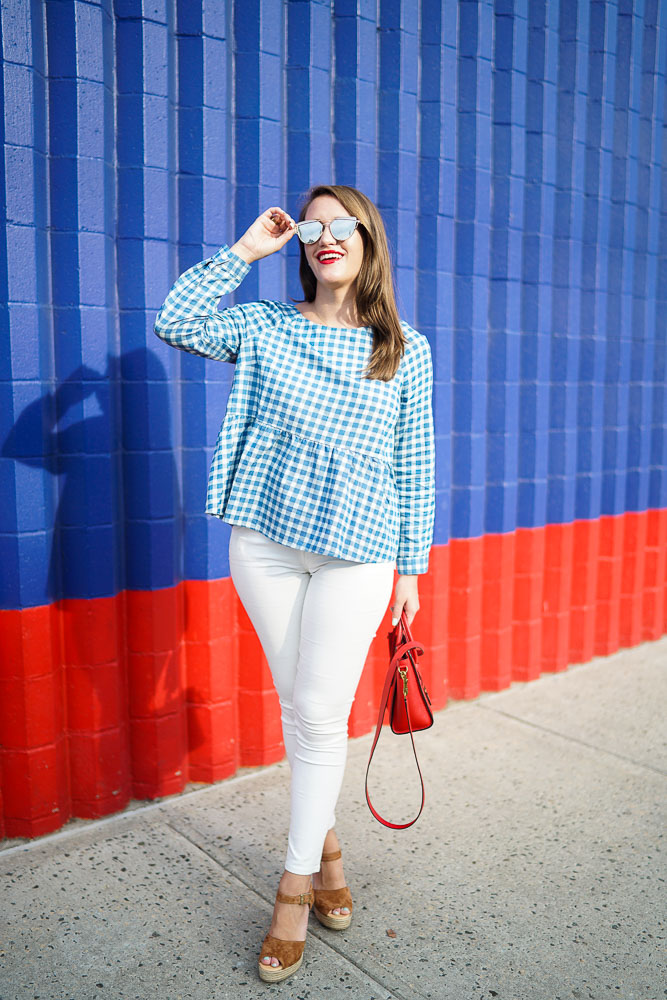AG white jeans, Preppy Blog