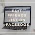 Edit Friends List On Facebook Update 2019