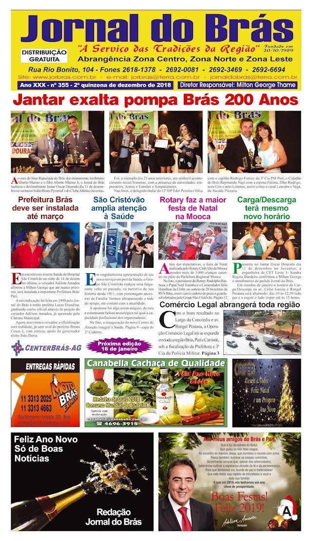 Destaques da Ed. 355 - Jornal do Brás