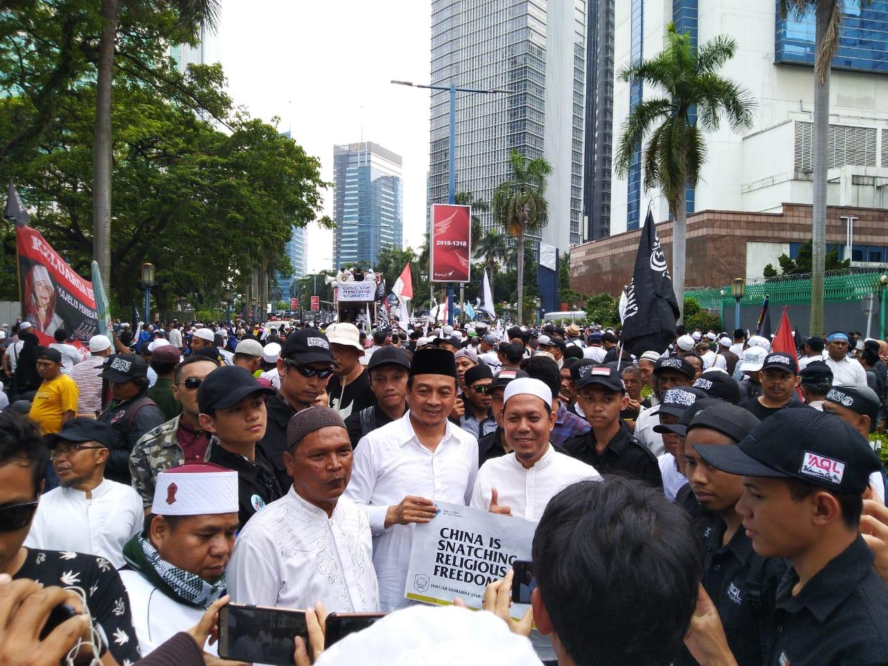 Pecah! Begini Penampakan Aksi Bela Muslim Uyghur di Jakarta