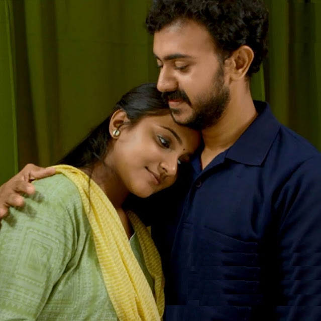Sajin John as young Harilal &Aparna as -young Anitha in Bhramanam Serial - actors