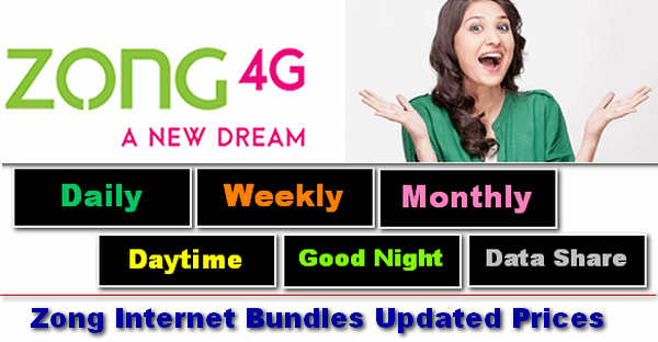 All Zong Internet Bundles