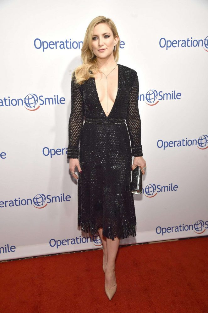 Kate Hudson wears plunging sequinned gown at the Operation Smile Gala in NY