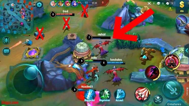 Mobile Legends'da tek başınızayken kalabalık gruplara saldırmamalısınız.