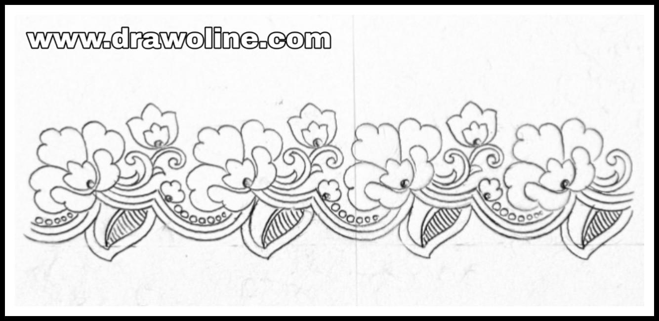 Saree Border Designs Drawing And Sketch On Paper Sare Border