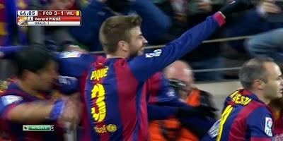 Copa Del Rey : Barcelona 3 vs 1 Villarreal 11-02-2015