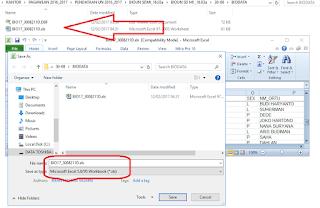 Menyimpan File Untuk Import BIO UN
