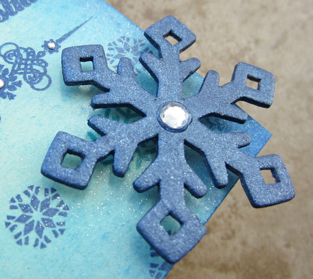 Luv 2 Scrap n  Make Cards  IBS October Sneak Peeks I finished the tag off  by adding a chipboard snowflake painted with some  of my shimmery paints
