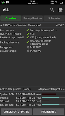 Cara Backup Dan Restore Aplikasi Android dan Data Dengan Titanium Backup