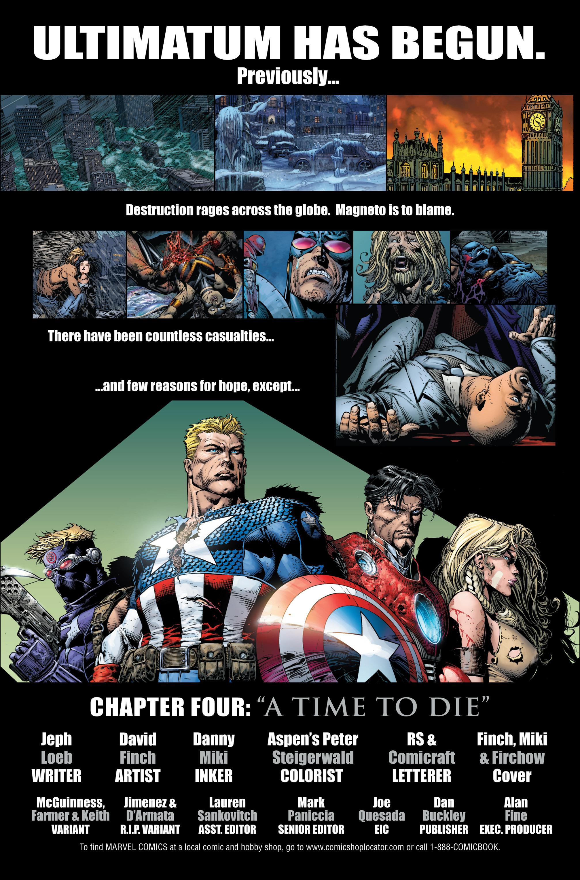Read online Ultimatum comic -  Issue #4 - 2