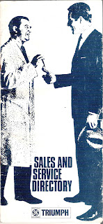 Front cover of Triumph Sales and Service Directory September 1968