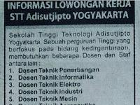 Lowongan Dosen dan Staf Kepegawaian STT Adi Sutjipto Yogyakarta