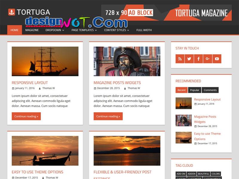 Tortuga Highly Flexible WordPress Theme
