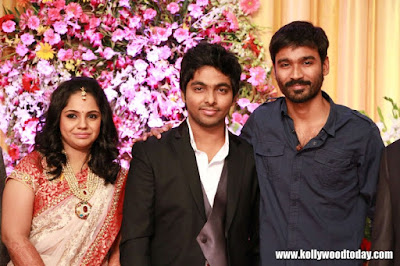 dhanush-in-sandhavi-wedding-reception