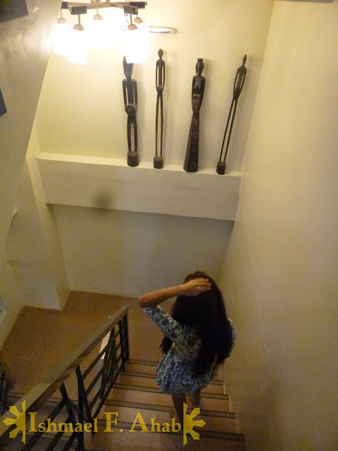 Down the stairs of Marrianne Home Inn, Puerto Princesa