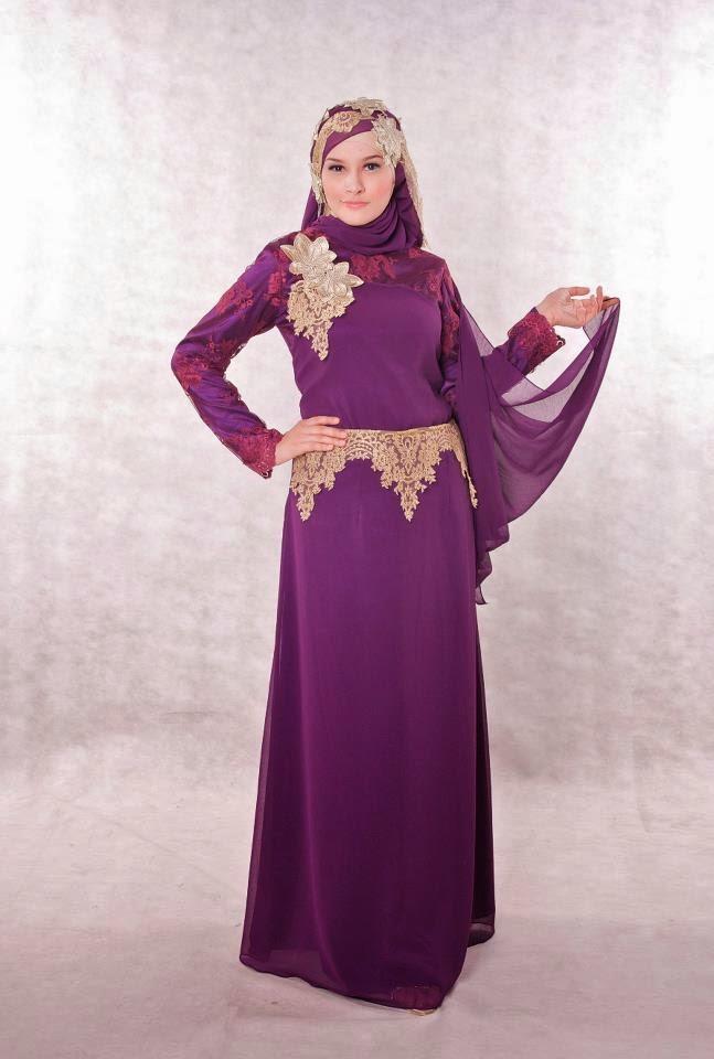 Foto Gambar Desain Baju Gaun Muslim Wanita Yang Murah