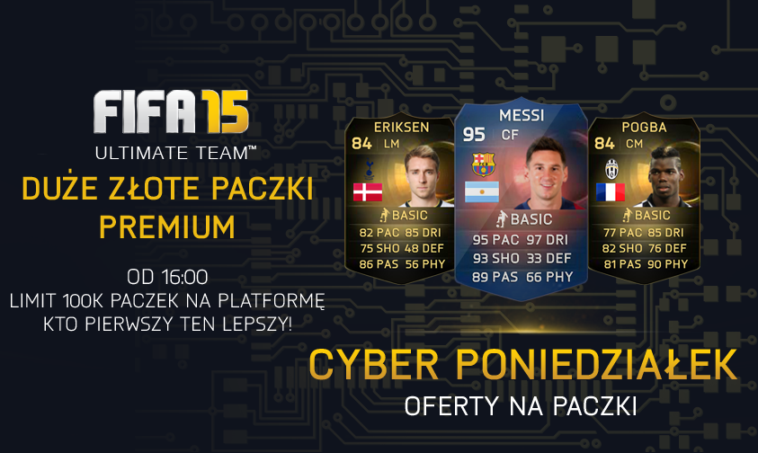 CYBER MONDAY! Cyber Poniedziałek FIFA15 Ultimate Team