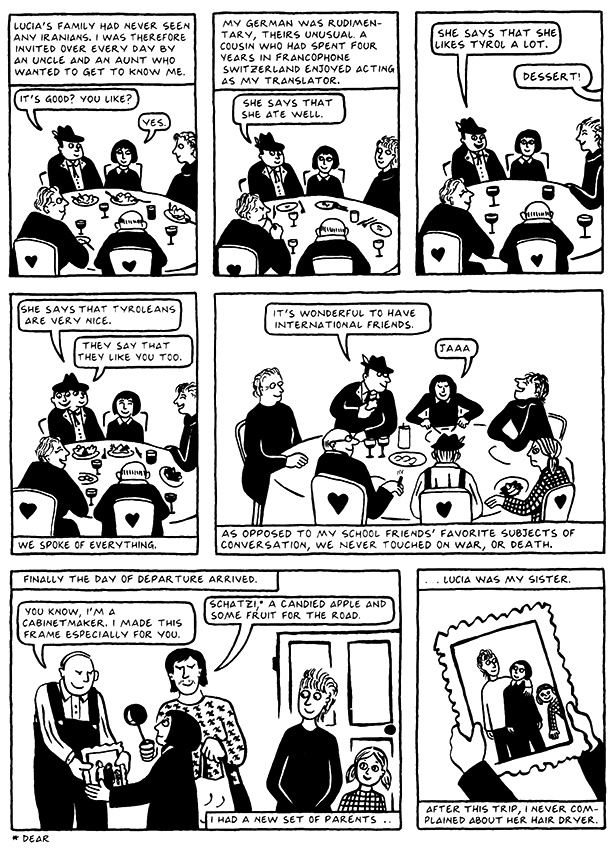 Read Chapter 2 - Tyrol, page 18, from Marjane Satrapi's Persepolis 2 - The Story of a Return