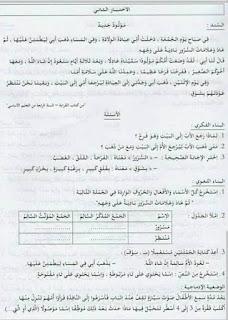 امتحانات مادة اللغة العربية السنة الرابعة ابتدائي الجيل الثاني