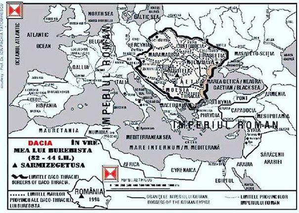 Statul geto-dac în secolul I î.Hr., în timpul lui Burebista