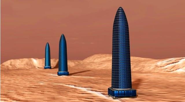 3 τεράστιοι πύργοι η οβελίσκοι, ευθυγραμμισμένοι ανακαλύφθηκαν στην επιφάνεια του Άρη! (vid)
