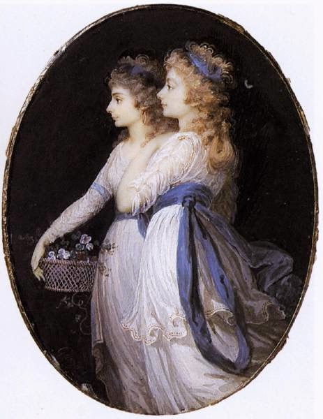 Georgiana, Duchess of Devonshire, with Lady Elizabeth Foster by Jean-Urbain Guérin, 1791