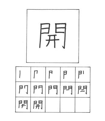 kanji membuka