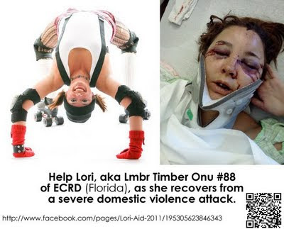 Roller derby player Lmbr Timber Onu faces long recovery from severe domestic violence attack