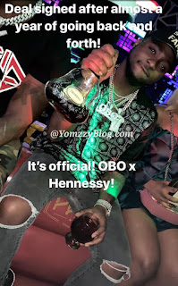 Singer Davido Signs New Endorsement Deal With Hennessey