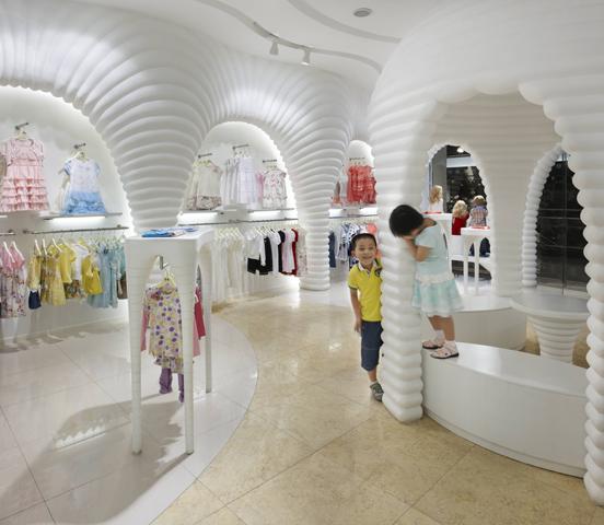 Home Designs Ideas: Children Clothing Store Design