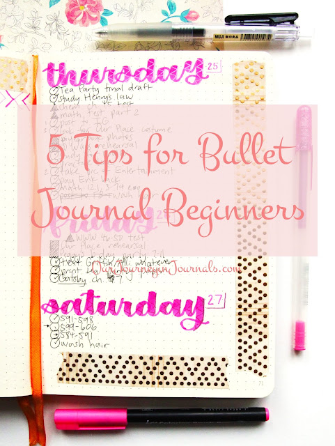 5 Tips for Bullet Journal Beginners