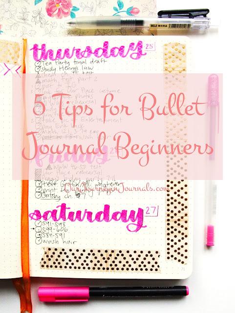5 Tips for Bullet Journal Beginners