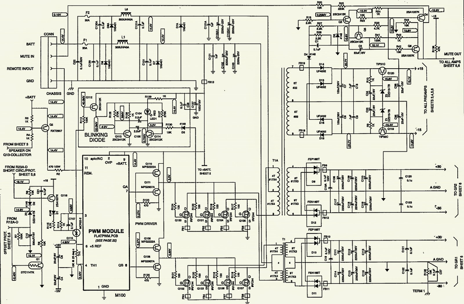 JBL JTQ360 - CAR AUDIO - SCHEMATIC [Circuit Diagram]