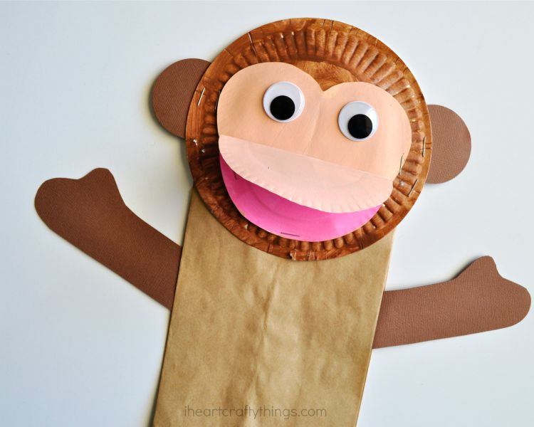 Easy Paper Bag Monkey Craft