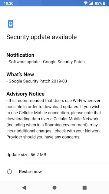 Nokia 2.1 receiving March 2019 Android Security update