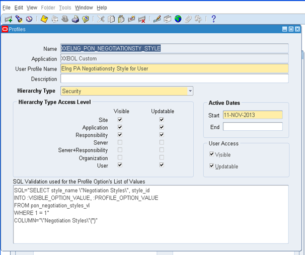Oracle Apps learning @Kishore: Create A profile option with List of