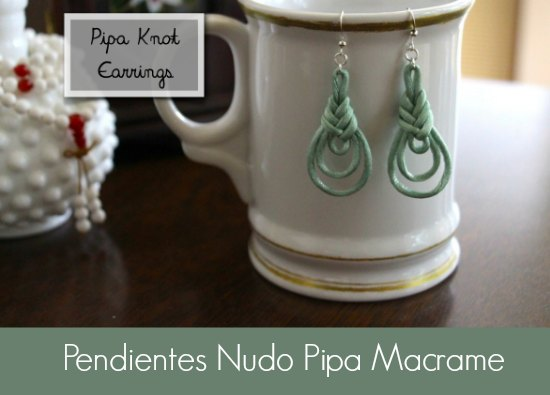 pendientes, earrings, tutoriales, diys, bisutería, macrame