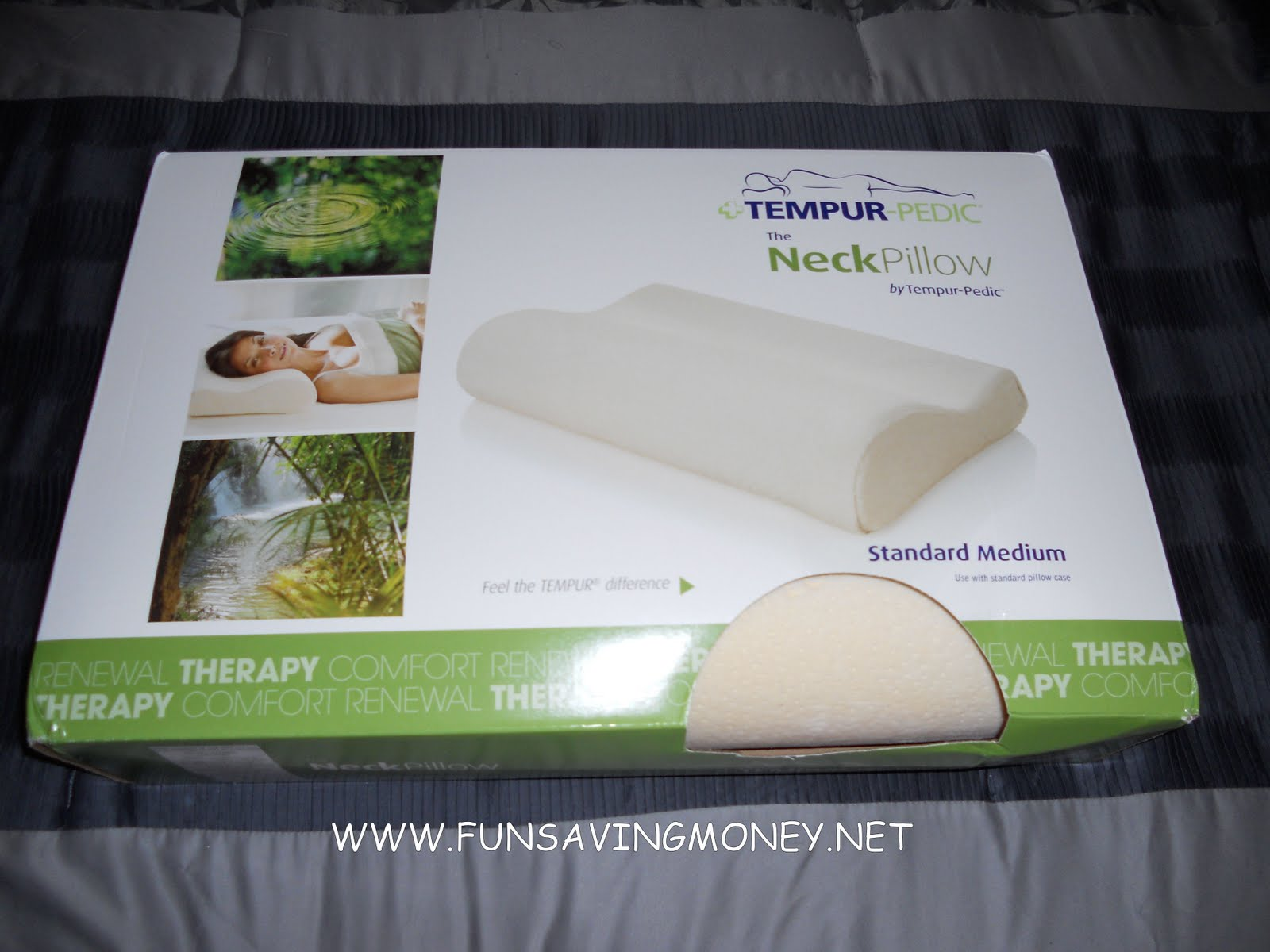Sleepys TempurPedic Medium Neck Pillow Review and Giveaway  Fun Saving Money