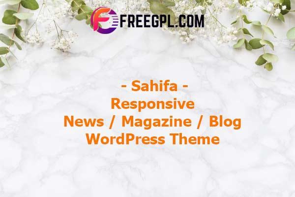 Sahifa - Responsive WordPress News / Magazine / Blog Theme Nulled Download Free
