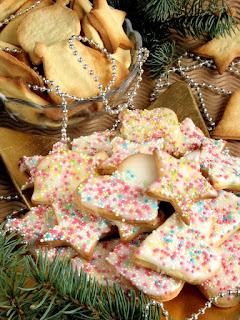 ciastka, cytrusy, lukier, lukrowane, kruche ciasteczka, boze narodzenie, swieta