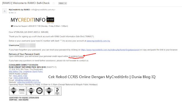 Cara Dapatkan Laporan CCRIS Online Dengan MyCreditInfo